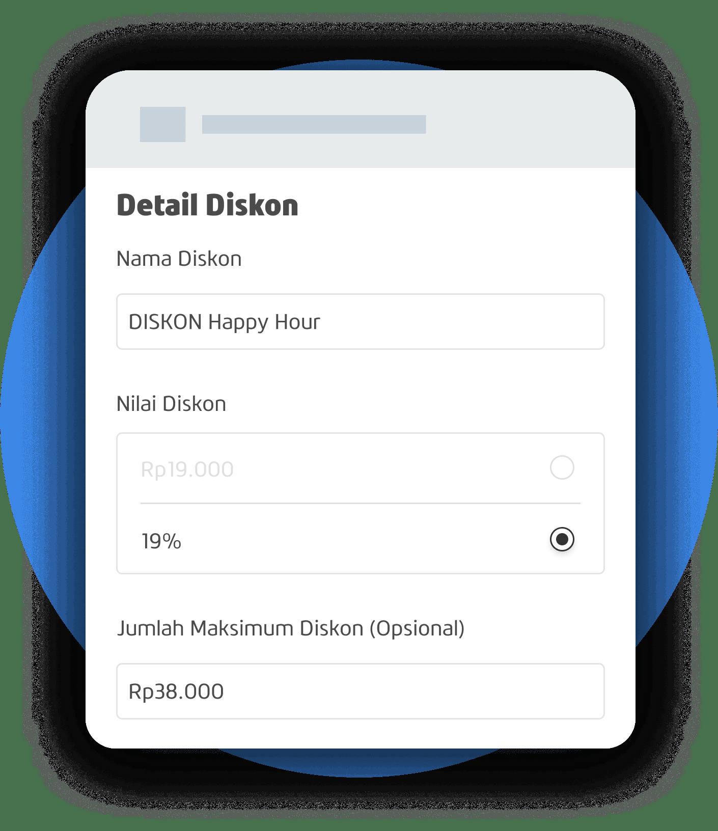 App Atur produk dan diskon