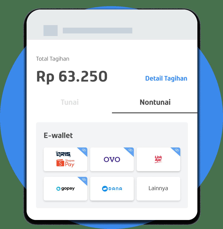 App Pembayaran wallet & kartu