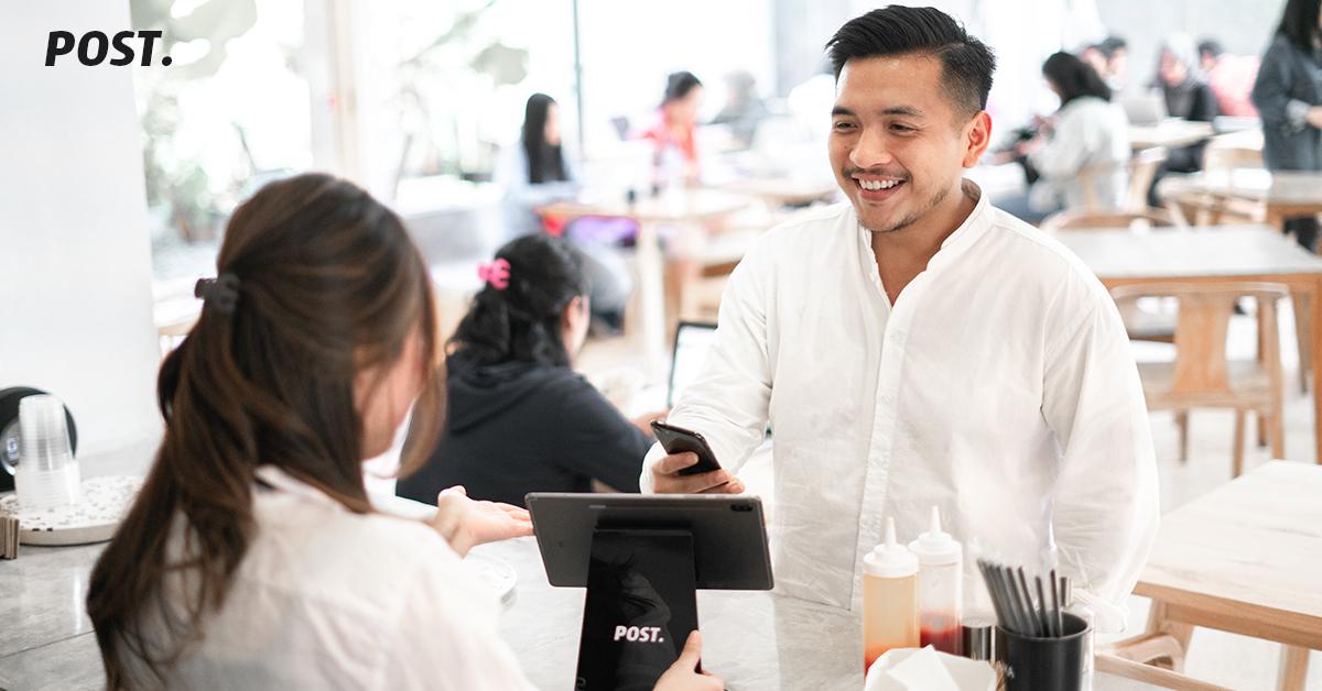 Aplikasi Kasir POST adalah aplikasi kasir online (Points of Sale) untuk mengelola pesanan, melakukan pencatatan lengkap dan manajemen inventori. Aplikasi kasir POST juga telah terintegrasi dengan OVO serta GoPay, kemudahan lainnya adalah Mesin EDC yang ditujukan untuk pemilik UMKM ataupun franchise, baik itu yang menjual produk ataupun jasa. Seperti cafe, restoran, kedai, barbershop, warung kopi, ataupun UMKM lainnya.